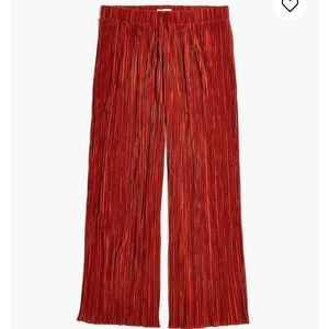 Madewell Texture & Thread Micropleat Wide-Leg Pant